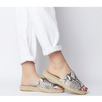 shop for Gaimo for OFFICE Gladis Square Toe Mule NATURAL SNAKE at Shopo