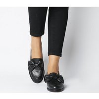 Office Forum Bow Loafer BLACK LEATHER BLACK SOLE