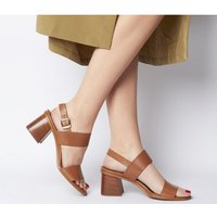 Office Mover Wood Mid Block TAN LEATHER