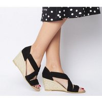 shop for Office Maiden - Wf Wedge BLACK SUEDE at Shopo