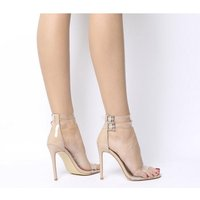 shop for Ego Winnie Transparent Cuff Heel NUDE at Shopo