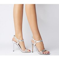 Office Hot Cake - Wf Strappy Sandal SILVER SNAKE,Bunt