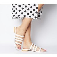 Office Sweet Dreams- Strappy Sandal OFF WHITE PATENT CROC