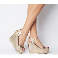 shop for Office O-hurray- High Wedge GOLD WITH STUDS at Shopo