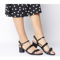 shop for Shoe the Bear Aya Knot Sandal BLACK LEATHER at Shopo