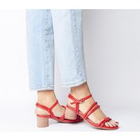shop for Shoe the Bear Aya Knot Sandal CORAL RED at Shopo