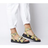 Office Stingray-  Ankle Strap Cleated Sandal YELLOW SNAKE LEATHER