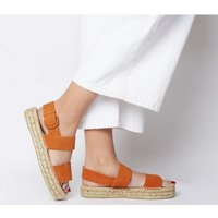 Office Sunray- Two Part Espadrille ORANGE SUEDE
