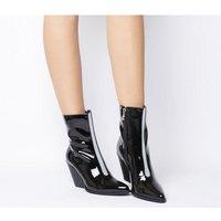 shop for Ego Alba Heeled Boot BLACK REFLECTIVE at Shopo