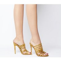 shop for Ego Saffiyah Mule YELLOW SNAKE at Shopo