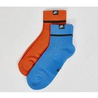 Nike Sneaker Sox Ankle 2 Pair ORANGE BLUE