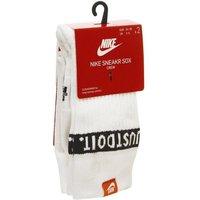 Nike Sneaker Sox Crew Sock 2 Pair WHITE BLACK