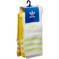adidas Mid Cut Crew Sock ACTIVE GOLD YELLOW WHITE