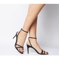 shop for Office Magic Trick Toe Loop Strappy Sandal BLACK NUBUCK at Shopo