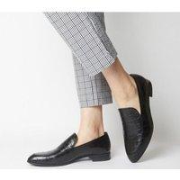 shop for Vagabond Frances Loafer BLACK EMBOSSED at Shopo