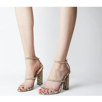 Office Highshine Diamante Feature Heel Sandal SNAKE