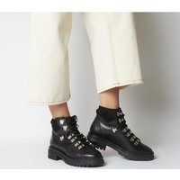 shop for Office Above All- Hiker Boot BLACK LEATHER at Shopo