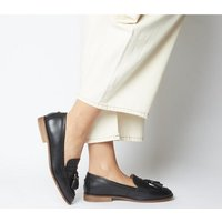 Office Fiza Square Toe Loafer BLACK LEATHER