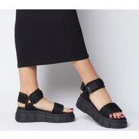 Office Marshall Chunky Multi Strap Sandal BLACK
