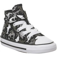 Converse All Star Hi 1vlace BLACK UNIVERSITY RED WHITE SHARK