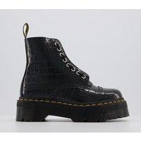 Dr. Martens Sinclair Zip Boot BLACK CROC EMBOSS