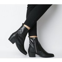 Office Aloe Unlined Casual Boot BLACK LEATHER MIX