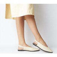 Office Forte Point Slingback OFF WHITE LEATHER