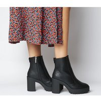 shop for Office Agility Cleated Heel Boot BLACK at Shopo