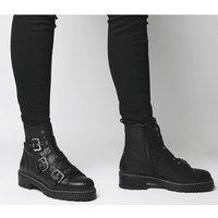 shop for Office Alaska- Triple Buckle Boot BLACK LEATHER at Shopo