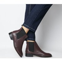 shop for Office Acorn- Feature Chelsea Ankle Boot BURGUNDY LEATHER FEATURE CHELSEA at Shopo