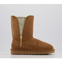 shop for UGG Classic Zip Boot CHESTNUT GOLD at Shopo