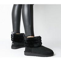 shop for UGG Fluff Mini Quilted BLACK at Shopo