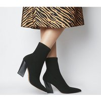 shop for Office Aniseed- Angled Heel Sock Boot BLACK KNIT at Shopo