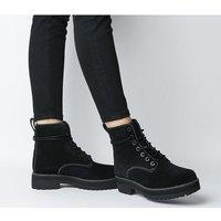 shop for Timberland Lux Stack Boot BLACK HAMMER SUEDE at Shopo