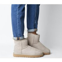 shop for UGG Classic Mini Ugg Grapghic Logo OYSTER NEON YELLOW at Shopo