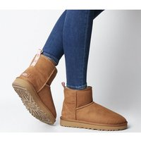 shop for UGG Classic Mini Ugg Grapghic Logo CHESTNUT NEON CORAL at Shopo