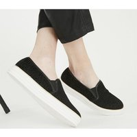 Office Feel-good Slip On Trainer BLACK FLOCKED CHEETAH