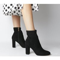 Office Asia- Block Heel Stretch Boot BLACK