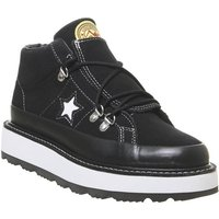 shop for Converse One Star Fleece Lined Boot BLACK WHITE BLACK at Shopo