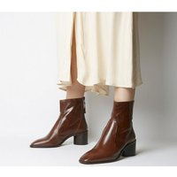 shop for Office Achilles- Unlined Block Heel BROWN LEATHER at Shopo