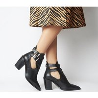 shop for Office Armada- Cut Out Western Boot BLACK LEATHER at Shopo