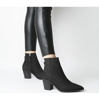 Office Anais- Pointed Western Boot BLACK NUBUCK