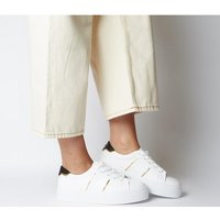 Office Furious Lace Up Trainer WHITE W GOLD