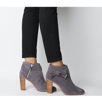 shop for Ted Baker Anaedi Block Heel CHARCOAL at Shopo