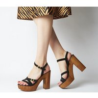 Office Hold-up- Multi Strap Sandal BLACK SUEDE