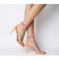 Office Miracles- Triple Strap Sandal BRIGHT LEATHER MIX