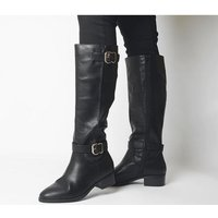 Office Kane- Buckle Detail Riding Boot BLACK