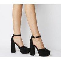 shop for Office Hatty- Closed Platform Sandal BLACK at Shopo
