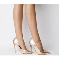 Office Happiness- Court Shoe ROSE GOLD LEATHER