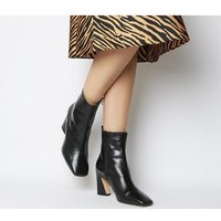 shop for Office Advantage- Square Toe Block Heel Boot BLACK LEATHER at Shopo